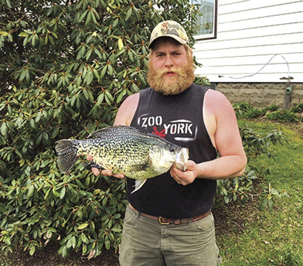 record size catch black crappie