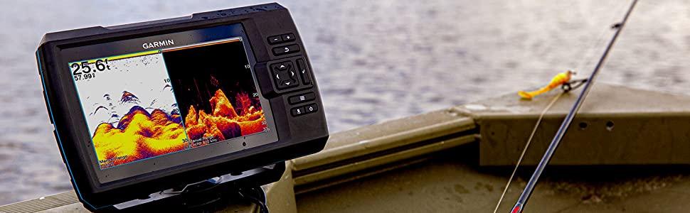Garmin Striker Vivid 7sv on a boat